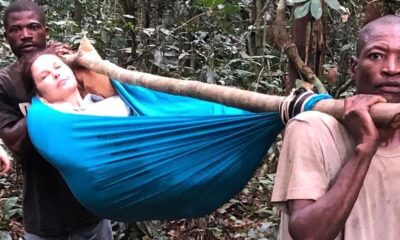 Ashley Judd con la pierna rota en El Congo